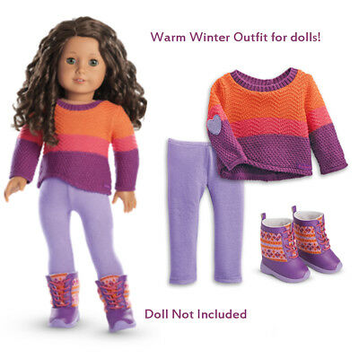 """American Girl TRULY ME WARM WINTER OUTFIT for 18"""" Dolls TM Holiday Christmas NEW"""