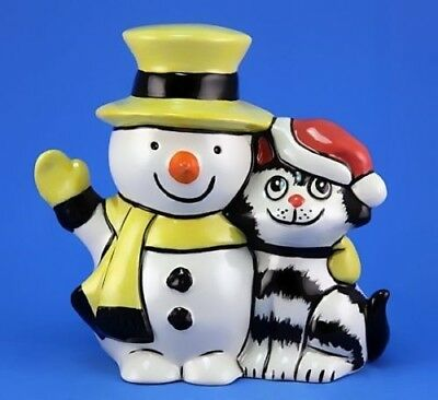 Lorna Bailey CHRISTMAS FRIENDS - CAT & SNOWMAN