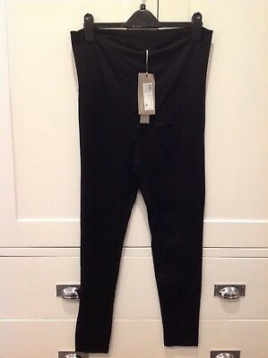 BNWT Mamas & Papas Black Maternity Leggings, 12-14, RRP £22