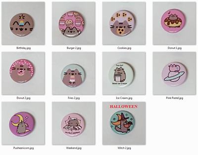 PICK FOUR (4) - Pusheen the Cat Collectible Pins / Buttons