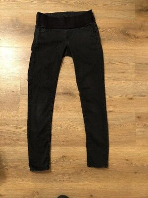Topshop Black Maternity Jeans Size 8 L32 Casual Stretchy Skinny Causal Light Cel