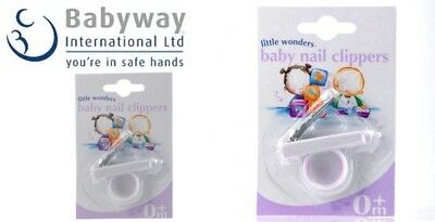 Baby Nail Clippers 0Month+ With Finger Ring For Easy Use Brand New