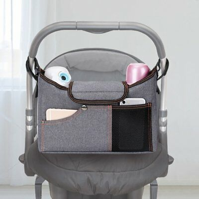 Stroller Organiser , Jerrybox Pram Buggy Buddy Storage Bag With Mobile Phone Mat