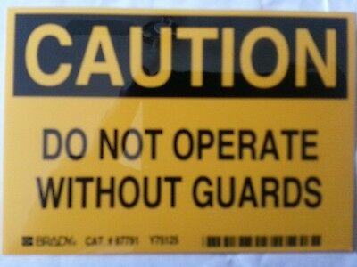 87791 Safety Label, 3-1/2 In. H, 5 In. W