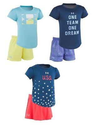 Brand NEW - Under Armour Toddler Girl Tee & Skirt 2 PC Set - Pick Size & Color