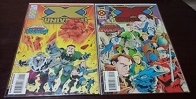 X Universe Marvel X-Men Comic Books 1 2 Age Of Apocalypse Gold Red Foil Covers