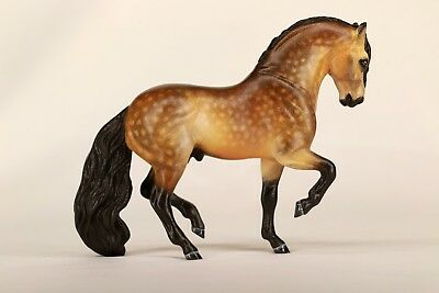 Custom CM Breyer Stablemate Dappled Buckskin Andalusian Stallion  by DeeJayBe