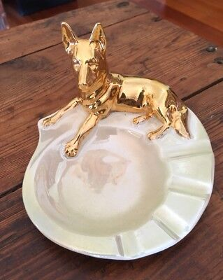 VINTAGE WEMBLEY WARE Australian Pottery Dog/Dingo Ashtray