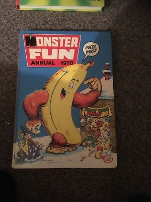 Monster Fun Annual 1978- Collector's Item-Good Condition