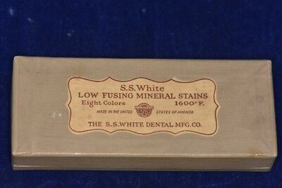 Vintage S.S. White Low Fusing Mineral Stains 1600 F. - for Porcelain Teeth