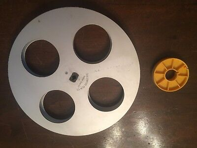 16mm Split Reel, Hollywood Film Co. 1,200 foot with cores, Heavy-weight Aluminum