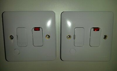 2 x Hager switched lit indicator FCU WITH flex outlet. Free post