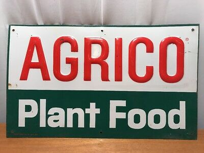Vintage Agrico Plant Food Tin Sign Stout Sign Co Seed Sign Farm Sign