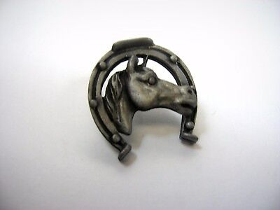 Vintage Collectible Pin: Horse Horseshoe Design Equestrian Theme Nice Look