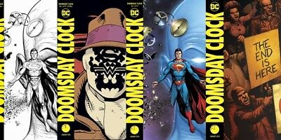 Doomsday Clock #1 All 4 Covers Cover Bundle Set