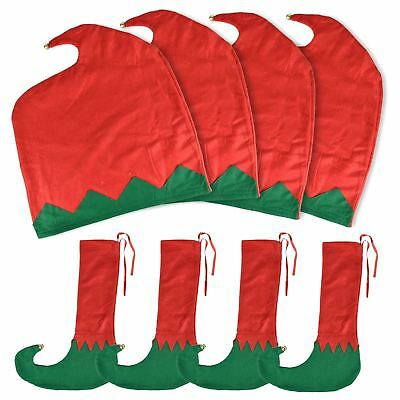 Christmas Dining Table Chair Back Leg Cover Xmas Elf Hat Sock Party Decoration