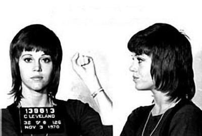 Jane Fonda 1970 Mugshot Cleveland Jail Celebrity Actress Mug Shot 8x10 Poster