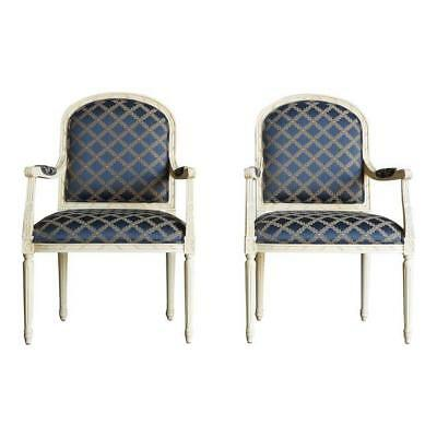 Chair ~ French Accent Chair ~ Bergere Chair ~ Nicole Chair by Ethan Allen ~ Pair