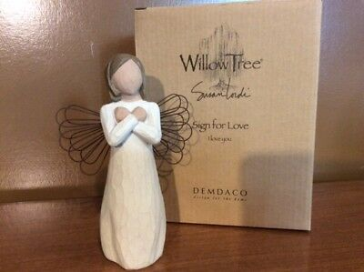 "Willow Tree Figurine "" Sign for Love "" DEMDACO 2003  by Susan Lordi"