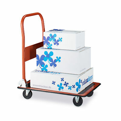 Platform Trolley Truck Folding Transport Dolly Magazine Cart Roll Truck Cart