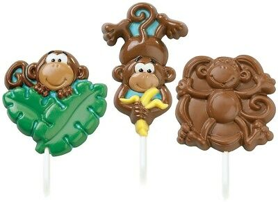 (1, Not Applicable) - Wilton 489593 Lollipop Mold-Monkey 3 Cavities - 3 Designs