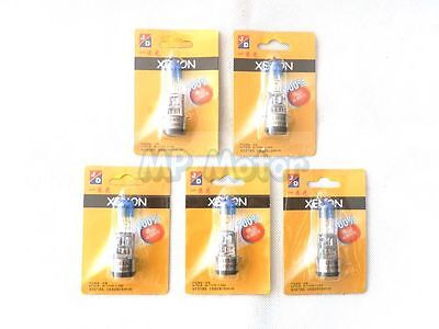 5 X  Motor SCOOTER MOPED ATV QUAD BIKE HEADLIGHT BULB 12V 50/50W BA20D XENON