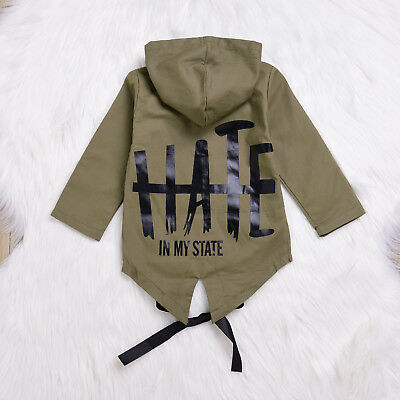 AU Stock Baby Kids Winter Long Sleeve Coat Boys Infant Coat Outerwear Jacket