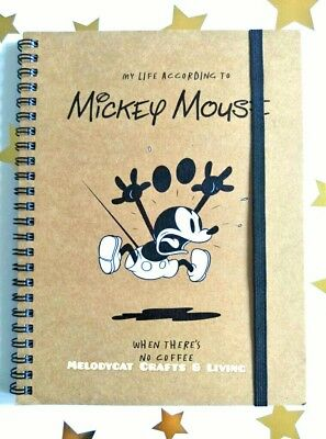 "NEW! ""Typo"" DISNEY Licensed A5 Campus Spiral Notebook Mickey Mouse"