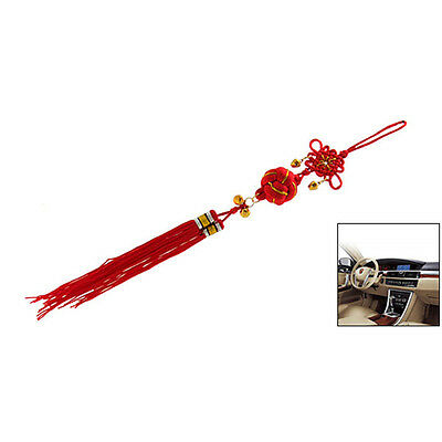 Oriental Ball ChInese Knot Tassel Ornament With Bells LW
