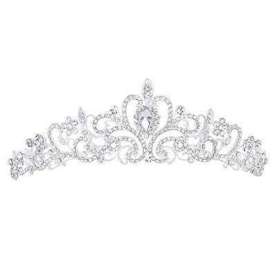 "Wedding Prom Engagement Party Bridal Bridesmaid Rhinestone Crown Tiara 11.42"" LW"