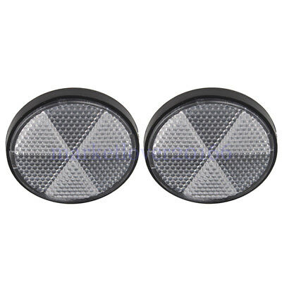 2pcs Round Front Clear Reflector Set Motorcycles ATV Bikes Dirt Bikes Universal