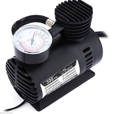 Mini DC 12V Electric Car Inflatable Air Pumps Compressor 300 PSI with Monitor