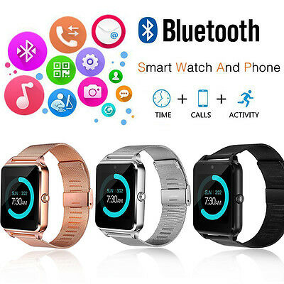 Bluetooth Smart Watch Phone Z60 Smartwatch Stainless Steel for Samsung iPhone 7