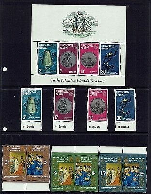 Turks & Caicos Islands....1973 Treasure Mini-Sheet + Set Of 4 + 1971 Christmas