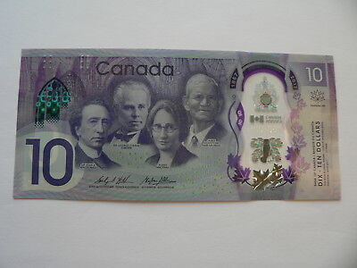 Banknote Canada  10 $ Polymer