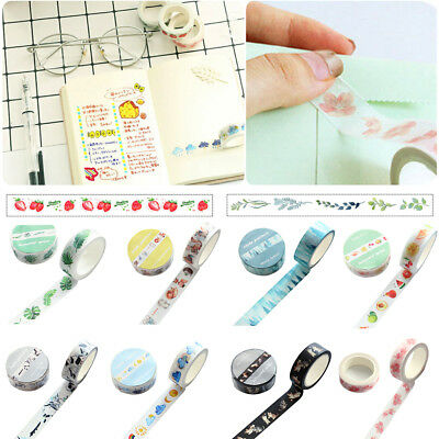 Decorative Tape Washi Masking Sticky Paper Sticker Scrapbook DIY Colorful Crafts