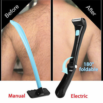 Electric / Manual Back Hair Shaver Remover Shaving Body Trimmer Long Handle Tool