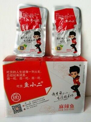 Delicious Chinese Food Snacks Spicy Hunan style Small Fish Snack 20 bags 鱼小二 麻辣鱼