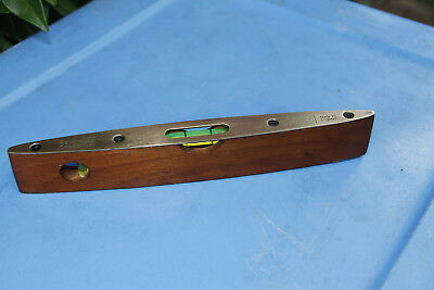 Vintage Raybone Chesterman Brass & Timber Torpedo Level. Great old tool
