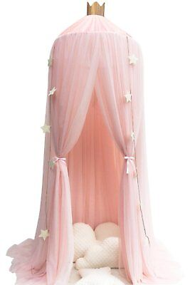 Princess Bed Canopy Mosquito Net Kids Crib Round Dome Indoor Castle Play Tent AU
