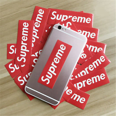 25/50Pcs Authentic Red And Black Supreme Stickers Snowboard Luggage Car Laptop