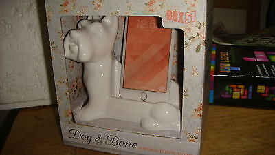 Dog & Bone Ceramic Mobile Phone Stand by Paladone. Brand New in Box