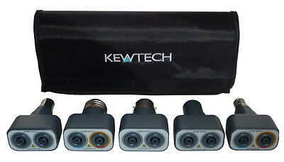 Kewtech Lightmate Lighting Circuit Testing Adaptor Kit inc BC,SBC,ES,SES & GU10