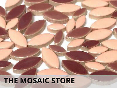 Pink Mixed Ceramic Petals - Mosaic Tiles Supplies Art Craft