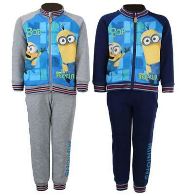 Boys Tracksuit Despicable Me Jog Suit Minions Bob Kevin Outfit 4 to 12 Years