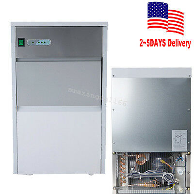 【USA】Stainless Steel Commercial Ice Maker Restaurant Ice Cube Machine AC110V CE