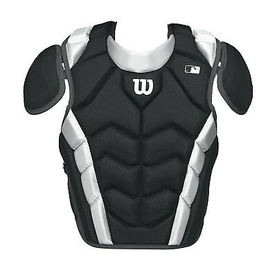 (39cm , Black) - Wilson Pro Stock Chest Protector. Delivery is Free