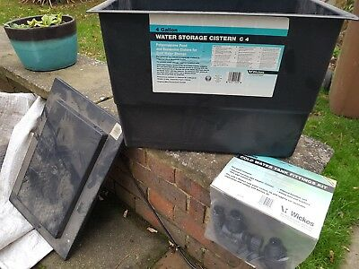 4 gallon 18 litre Cold water storage tank cistern with lid and 22mm fitting kit