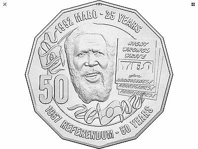 2017 50 Cent EDDY MABO pride and passion coin direct from bags UNC