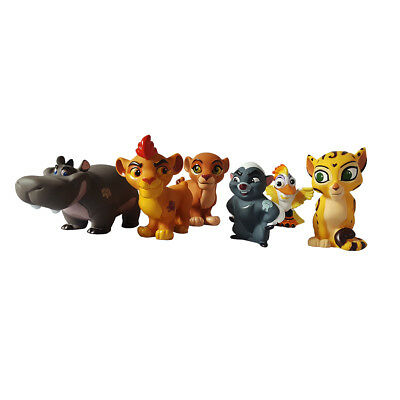 Disney Junior The Lion Guard Disney Junior 6 Piece Bath Toys Set with Case NEW